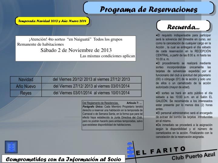 Programa de Reservaciones
