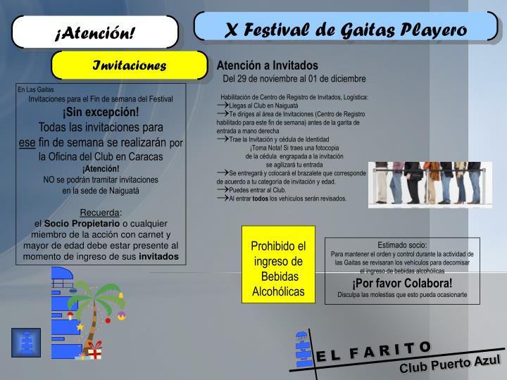 X Festival de Gaitas Playero