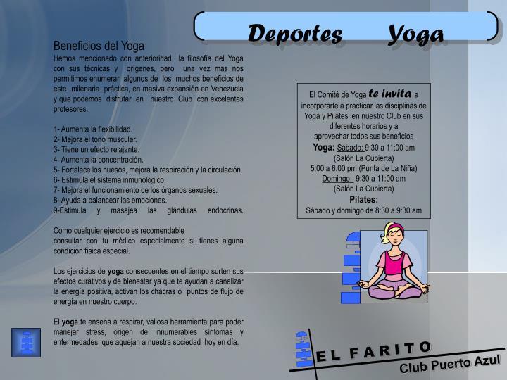 Deportes       Yoga