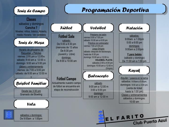 Programación Deportiva