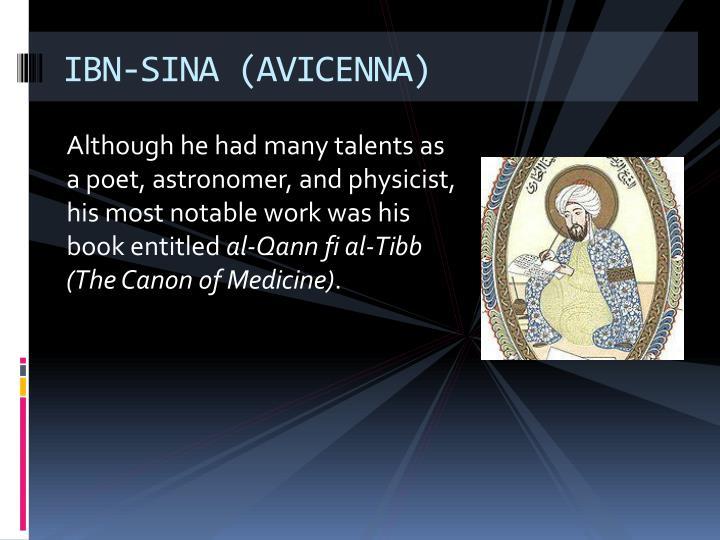 IBN-SINA (AVICENNA)