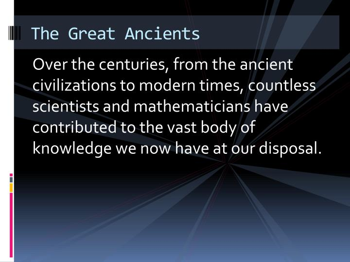 The great ancients