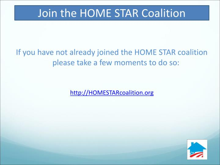 Join the HOME STAR Coalition