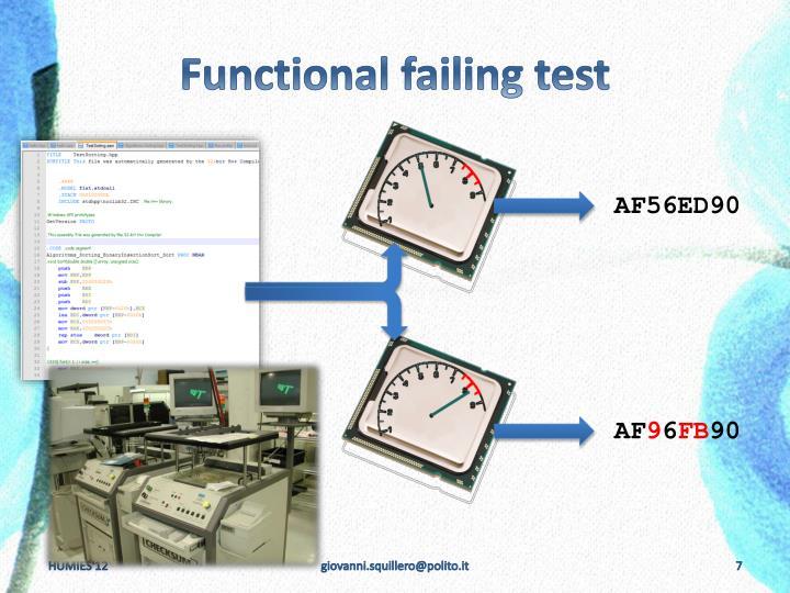 Functional failing test