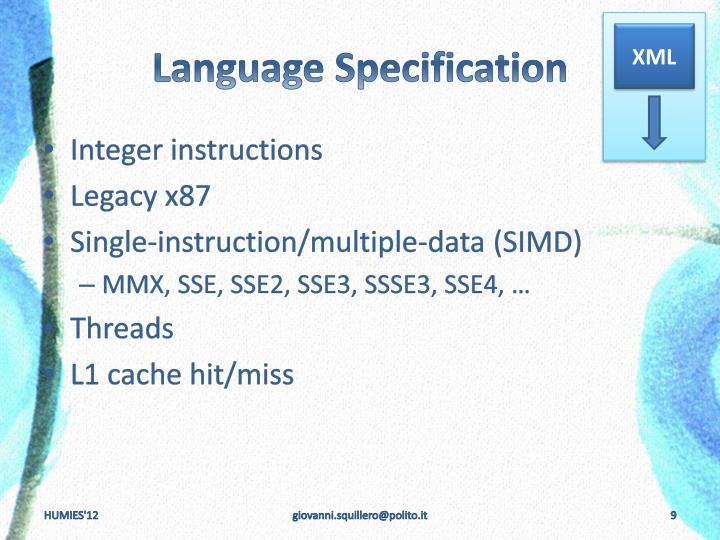 Language Specification