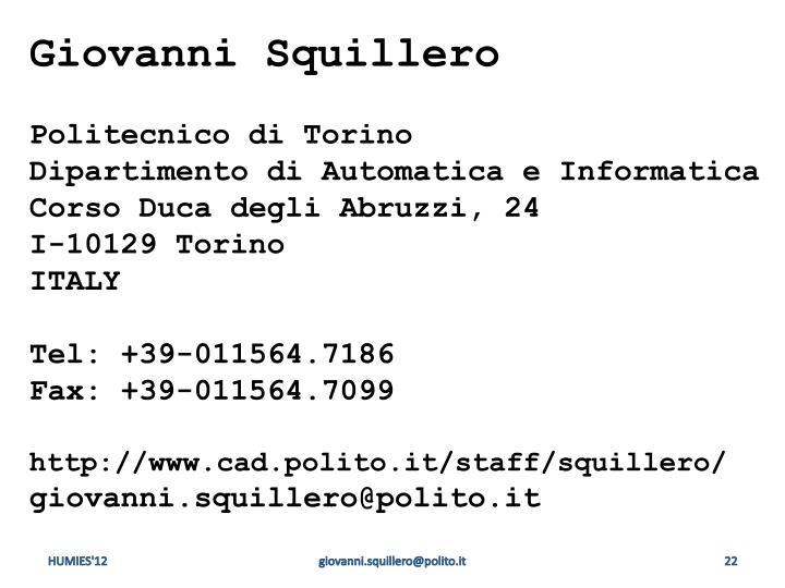 Giovanni Squillero