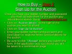 how to buy step 2 sign up for the auction