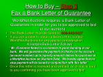 how to buy step 3 fax a bank letter of guarantee
