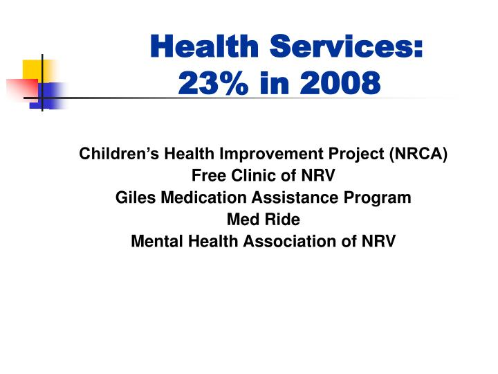 Health Services: