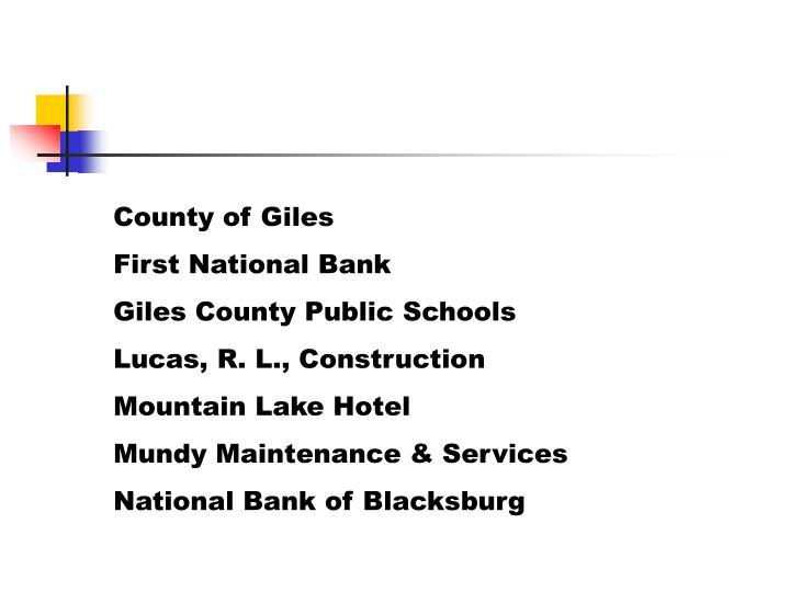County of Giles