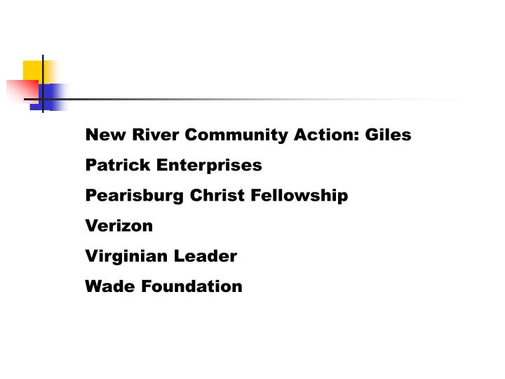 New River Community Action: Giles