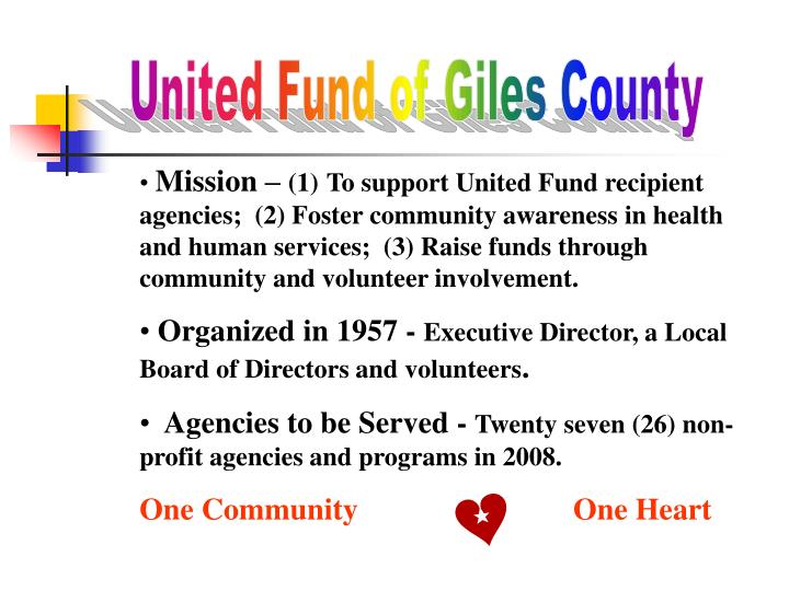 United Fund of Giles County