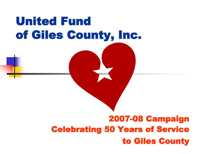 United fund of giles county inc