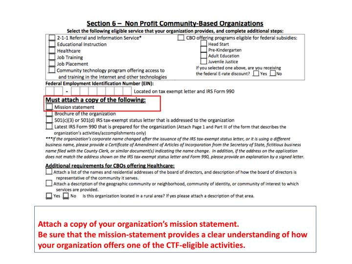 Attach a copy of your organization's mission statement.
