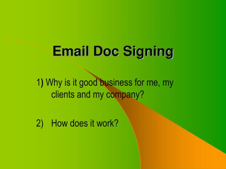 email doc signing n.