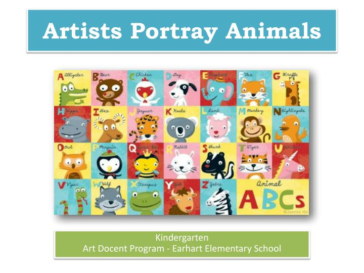 artists portray animals