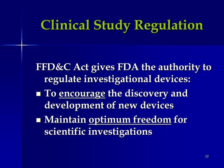 Clinical Study Regulation