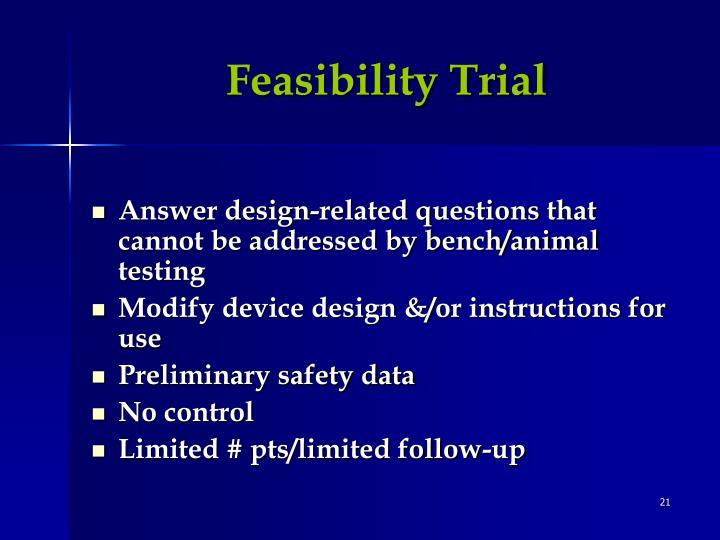 Feasibility Trial