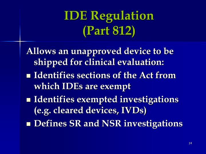 IDE Regulation