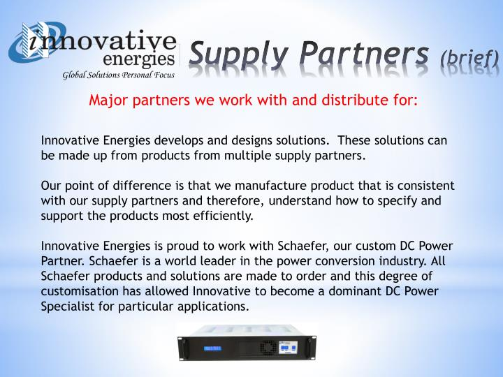 Major partners we work with and distribute for: