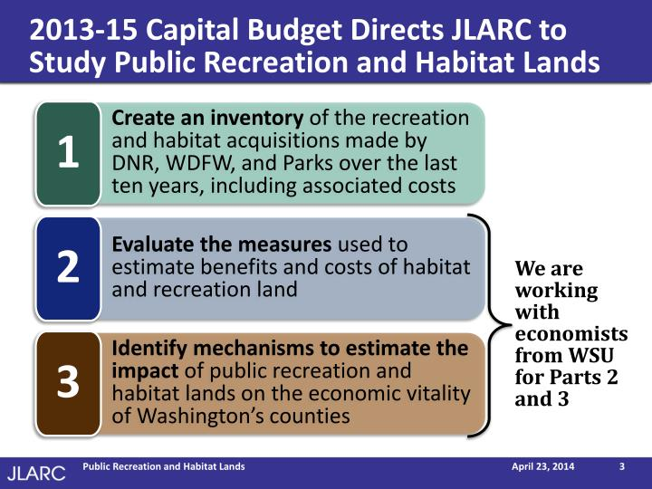 shift on conservation tactics from focusing on zoological parks to focusing on homeland and habitats Include the state conservation trust fund, the winter park parks and recreation capital fund, and the entertainment and cultural capital projects fund expenditures from the capital improvement funds emphasize repair, rehabilitation, and upgrades to existing city.