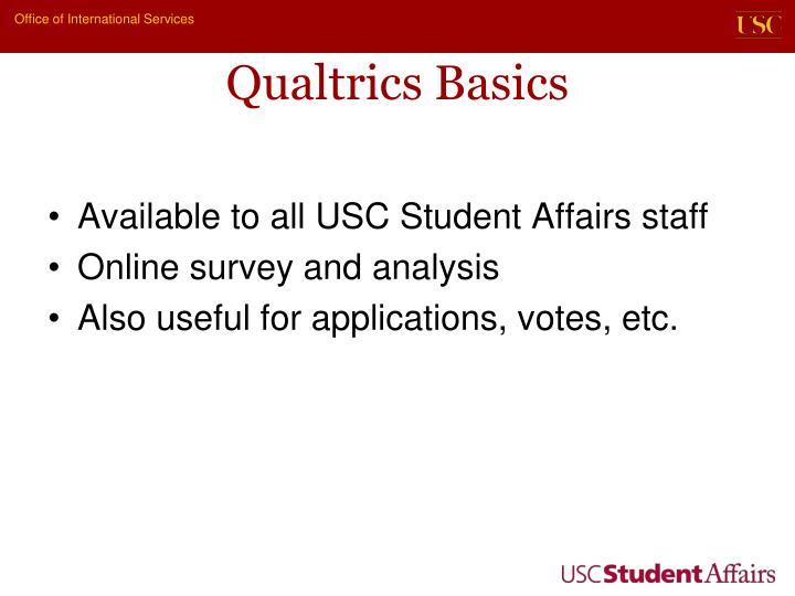 Qualtrics Basics