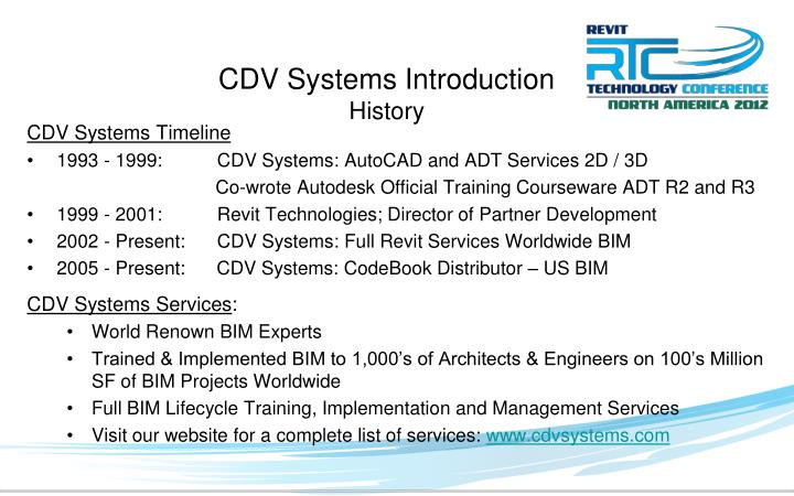 CDV Systems Introduction