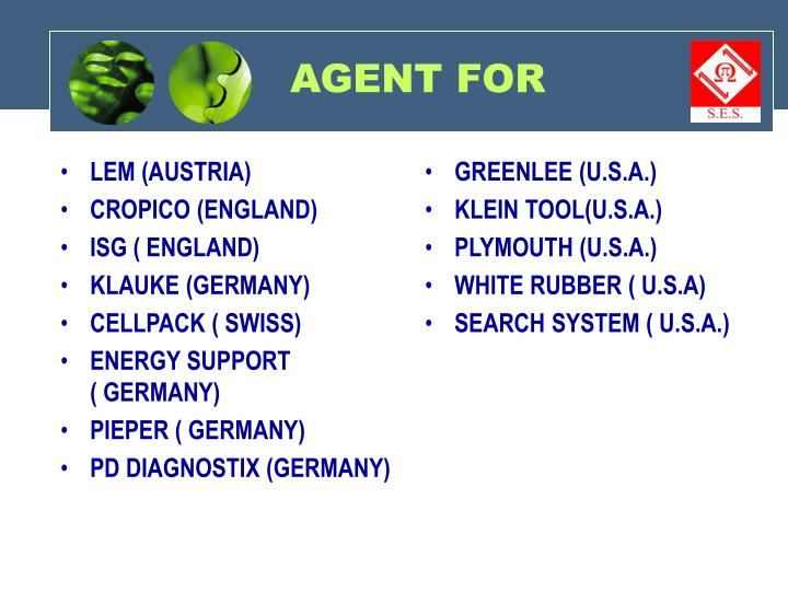 Agent for
