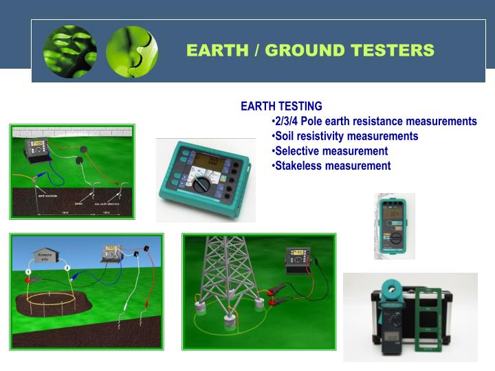 EARTH / GROUND TESTERS