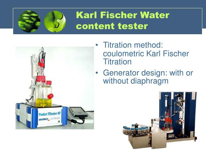 Karl Fischer Water content tester