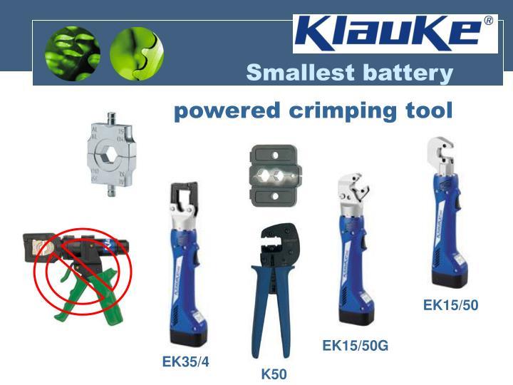 Smallest battery