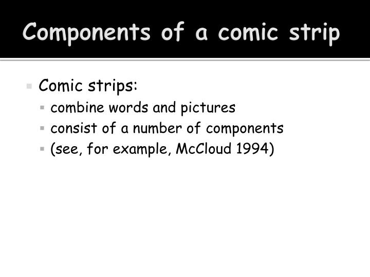 Components of a comic strip