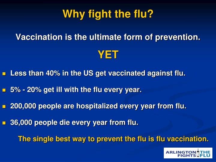 Why fight the flu?
