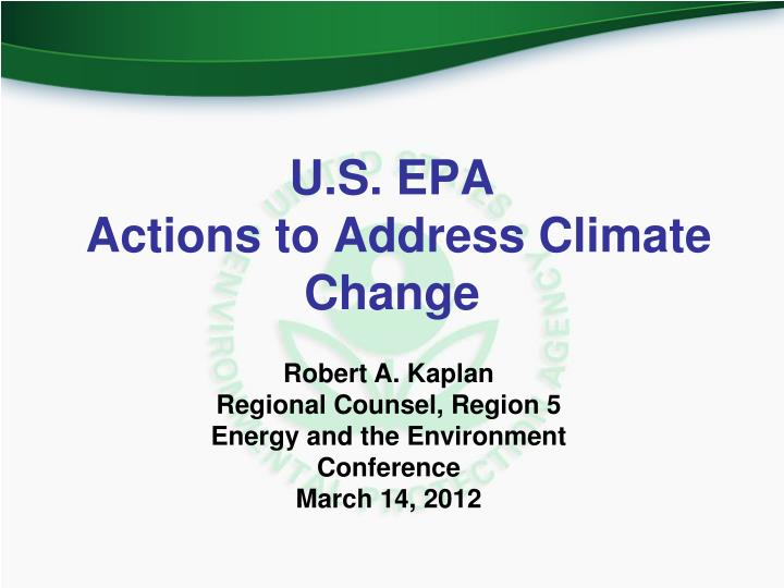 u s epa actions to address climate change n.