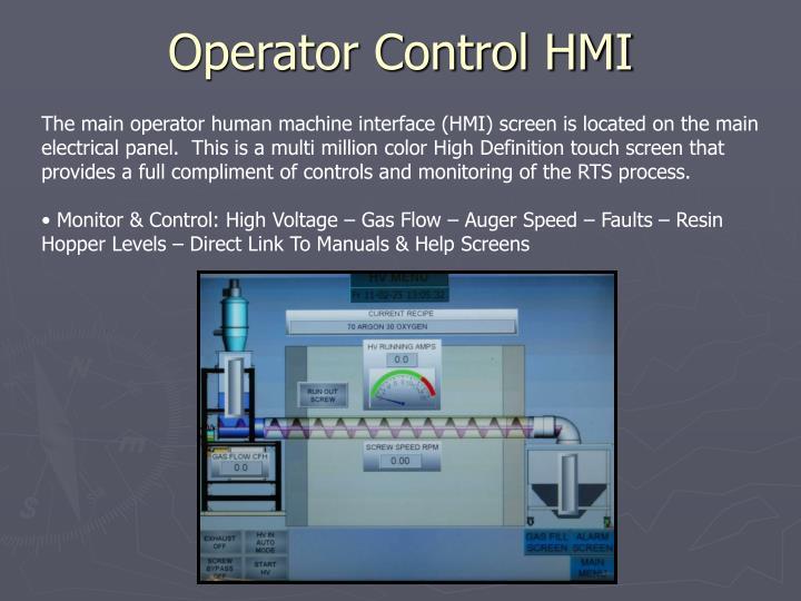 Operator Control HMI