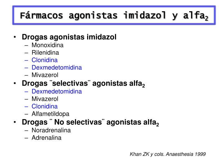 Fármacos agonistas imidazol y alfa