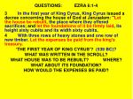 questions ezra 6 1 41