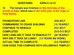 questions ezra 6 14 151