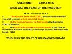 questions ezra 6 18 201