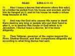 read ezra 6 11 13