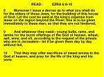 read ezra 6 8 10
