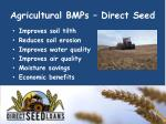 agricultural bmps direct seed