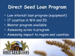 direct seed loan program