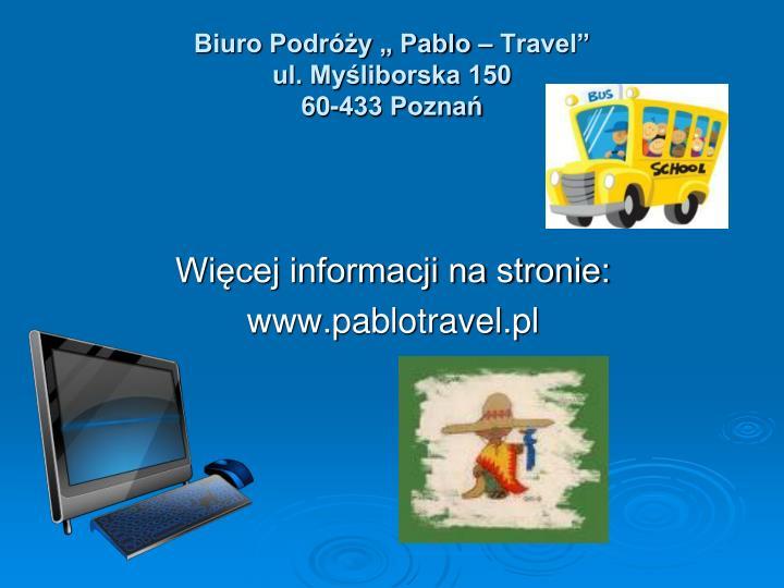"Biuro Podróży "" Pablo – Travel"""
