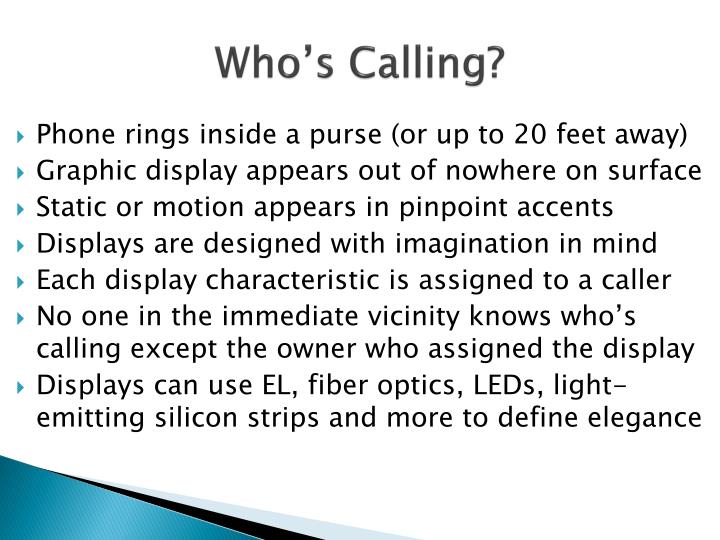 Who s calling