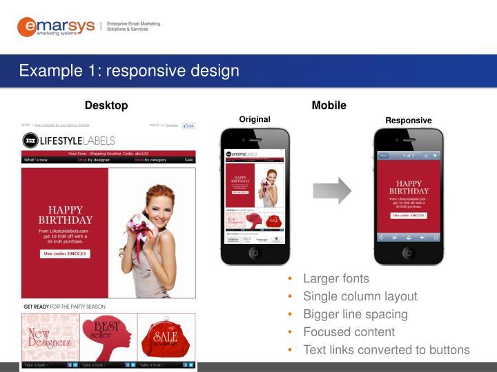 Example 1: responsive design