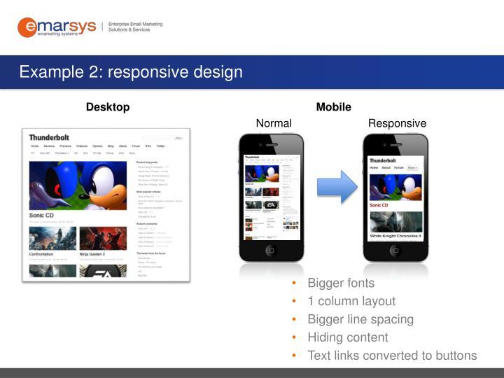 Example 2: responsive design