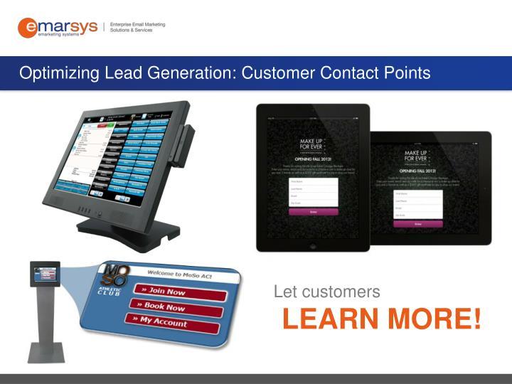Optimizing Lead Generation