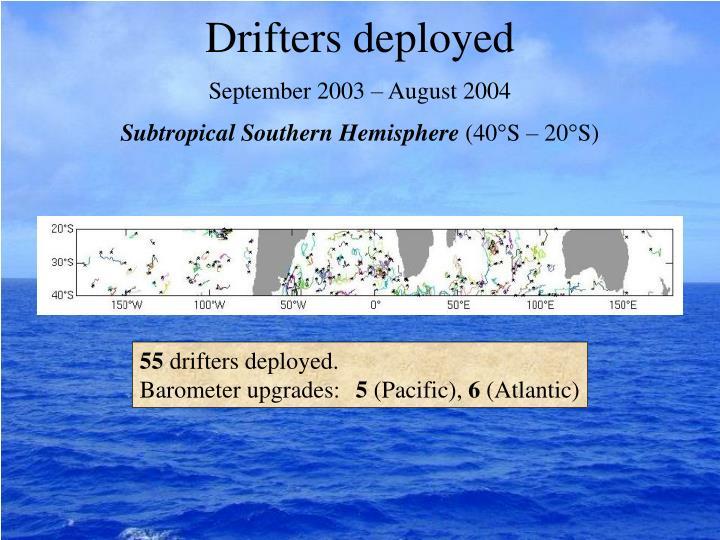 Drifters deployed