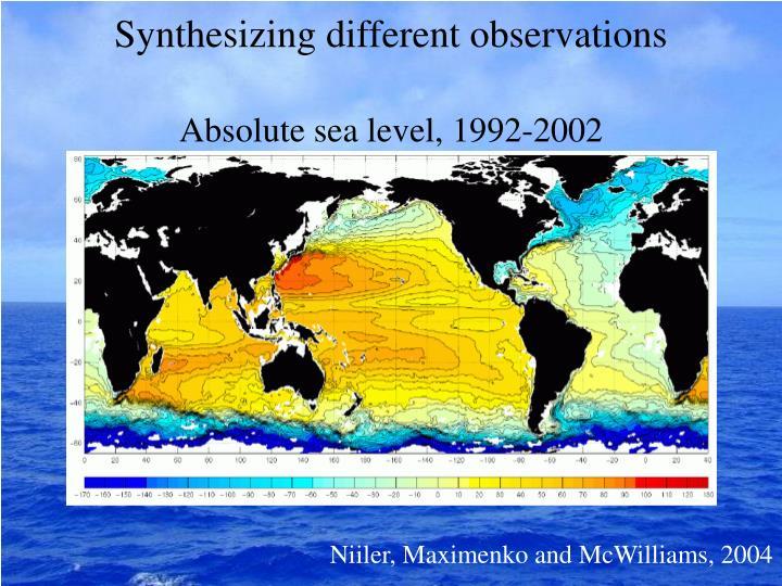 Absolute sea level, 1992-2002